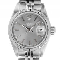 Rolex Oyster Perpetual Date Lady Stahl Automatik Armband...
