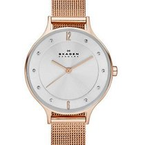 Skagen Womens  Anita Watch - Rose Gold-Tone - Mesh Bracelet