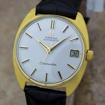 Omega Seamaster Cal 563 Auto Solid 14k Gold Swiss 1960s...