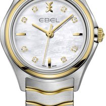 Ebel 1216197 Classic Wave in Steel with Yellow Gold Bezel - on...