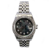 Rolex Oyster Perpetual Date Just Stainless Steel Mother of...
