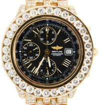 Breitling Crosswind Chronomat 18K Solid Gold Diamonds