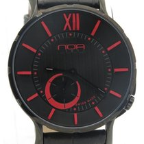 N.O.A Noa Slim Watch 18.60 Mslq-006 Black/red Dial Black Case...