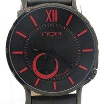 N.O.A Noa Slim Watch 18.60 Mslq-006 Black/red Dial Black Case...