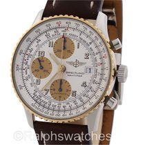 Breitling Navitimer Two Tone 18K Gold Steel D13022 Mens Watch