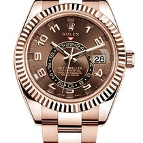 Rolex Sky-Dweller Rose Gold Chocolate Dial