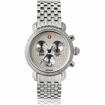 Michele CSX-36 Ultimate Chronograph Pave Diamond Dial Stainles...
