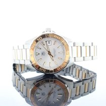 TAG Heuer Aquaracer 18kt Rose Gold & Steel Silver Dial...