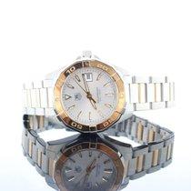 TAG Heuer Aquaracer 18kt Rose Gold & Steel Silver Dial...