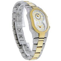 Philip Stein Teslar Dual Time Small Two Tone Quartz Watch...