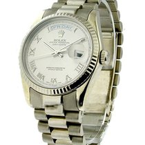 Rolex Used 118239 White Gold Mens President with Heavy...