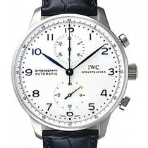 IWC Portuguese Chronograph White Dial Blue Silver Plated Numeral