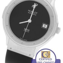 Hublot Classic MDM Automatic 36mm Stainless Black Rubber Date...