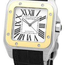 """Cartier """"Santos 100"""" Strapwatch."""
