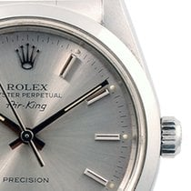 Rolex SS Airking Slate Stick Marker Dial