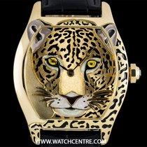 Cartier 18k Y/G Unworn Ltd Ed Jaguar Tortue XL B&P