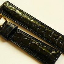 Bulova genuine crocodile strap 19/16, dark blue with Bulova...