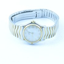 Ebel Classic Wave Damen Uhr 25mm Quartz Stahl/gold Perlmutt...