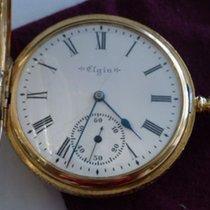 Elgin 14k Yellow Gold 1899 Elgin Pocket Watch 7 jewels 16 Size