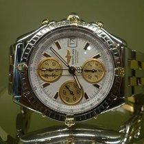 Breitling vintage chronomat ref B13050 gold and steel white...