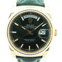 Rolex Day Date Green Dial 118138 Yellow Gold