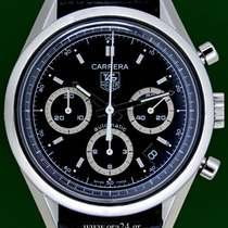 TAG Heuer Carrera CV2113 Automatic Chronograph 39mm Black Dial
