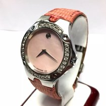 Movado Sports Edition Ss Ladies Watch W/ Factory Diamonds G Vs...