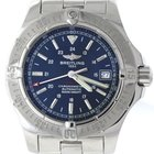 Breitling Colt Automatic Stainless Steel Blue Stick Date...