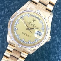 Rolex Yellow Gold Day-Date Bark Diamond Watch Ref. 18308