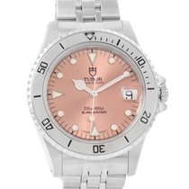 Tudor Submariner Prince Date Salmon Dial Steel Watch 75190
