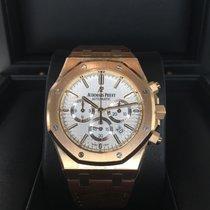 Audemars Piguet Royal Oak Rose Gold Chronograph Silver Dial