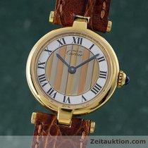 Cartier Lady Must De Vermeil Ronde Trinity Damenuhr Design...
