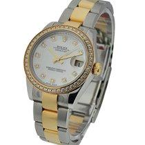 Rolex Unworn 178383 Mid Size 2-Tone Datejust with Diamond...