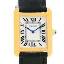 Cartier Tank Solo Small Yellow Gold Steel Ladies Quartz Watch...