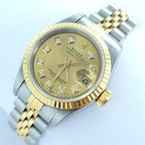 Rolex Datejust Damenuhr Mit Brillanten Diamanten Stahl/gold 69173