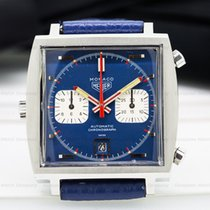 "Heuer 1133B Vintage Monaco ""Steve McQueen"" Blue Dial..."