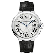 Cartier w6920055 Ballon Bleu 46mm 18kt White Gold Complete NEW