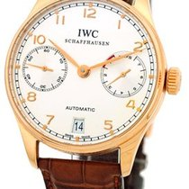 "IWC ""Portuguese 7 Day"" Power Reserve Strapwatch."