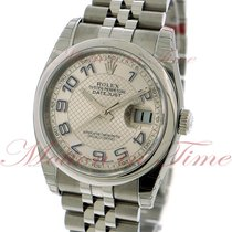 Rolex Datejust 36mm, Silver Deco Dial, Blue Arabic Numerals,...