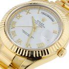 Rolex Day-Date II White Dial Yellow Gold President 218238
