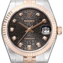 Rolex Datejust 31 Edelstahl Roségold Everose Jubilé Schwarz J DIA