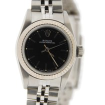 Rolex Oyster Perpetual 18K White Gold Bezel Stainless Steel