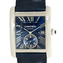 Cartier Tank Stainless Steel Blue Automatic WSTA0010