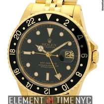 Rolex GMT-Master II 18k Yellow Gold Black Dial 1980's Ref....