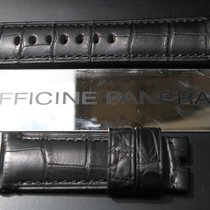 Panerai Black Alligator Band Strap Bracelet 24mm 24/22 for Tang