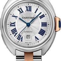 Cartier CLÉ DE CARTIER AUTOMATIC 31mm oro rosa/acciaio W2CL0004 T