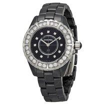Chanel J12 Black Diamond Dial Quartz Ladies Watch