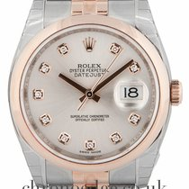Rolex Datejust diamond dial18ct Rose Gold & Steel 116201