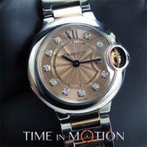 Cartier Ballon Bleu 28 mm  Or rose at acier, diamants COMPLETE