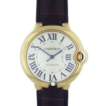 Cartier W6900356 Ballon Bleu 36 Yellow Gold Leather Strap